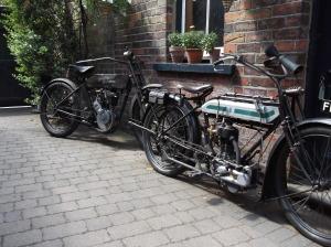 1913 9B and Triumph 1914 H
