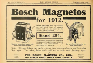 Bosch magneto 1912 advert