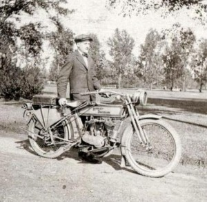 z Early Harley Davidson twin 2